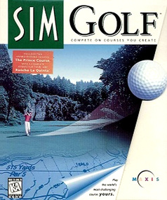 SimGolf Sim Golf packshot box art