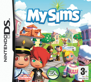 MySims DS box art packshot
