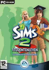 De Sims 2: Studentenleven box art packshot