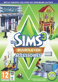 De Sims 3: Buurtleven Accessoires box art packshot