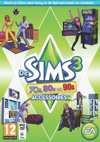 De Sims 3: 70s, 80s & 90s Accessoires box art packshot
