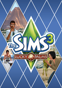 The Sims 3: Lucky Palms custom box art packshot made by SNW