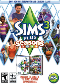 The Sims 3 Plus Seasons packshot box art