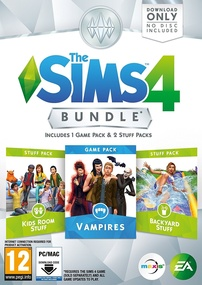 The Sims 4: Bundle Pack #4 (Vampires, Kids Room Stuff, Backyard Stuff) packshot box art