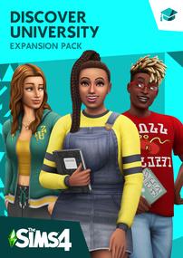 The Sims 4: Discover University packshot box art cover
