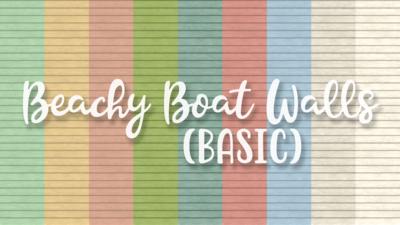 SNW Beachy Boat Basic Siding Walls
