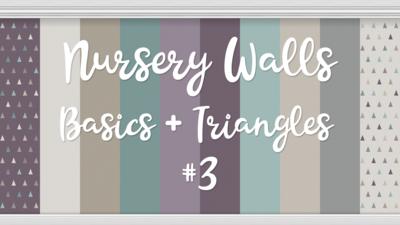 Nursery Walls Set #3 - Basics + Triangles