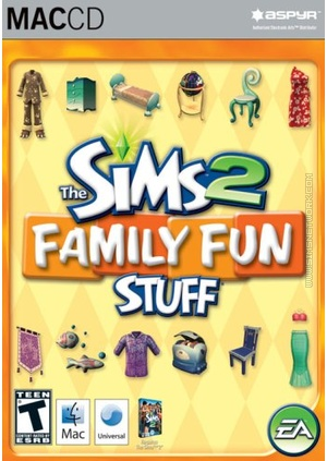 The Sims 2: Family Fun Stuff for Mac box art packshot