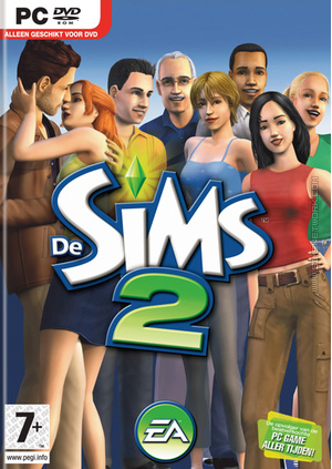 De Sims 2 box art packshot