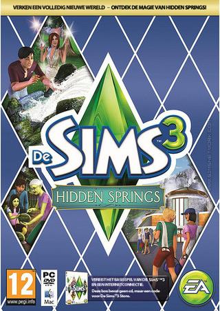 De Sims 3: Hidden Springs box art packshot