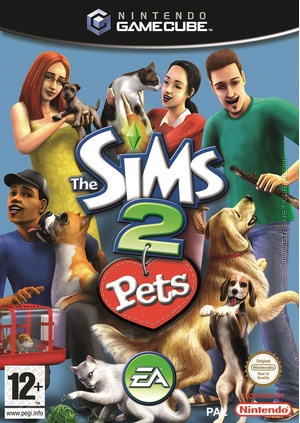 The Sims 2 Pets GameCube Box Art Packshot