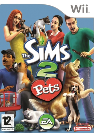 The Sims 2 Pets Wii Box Art Packshot