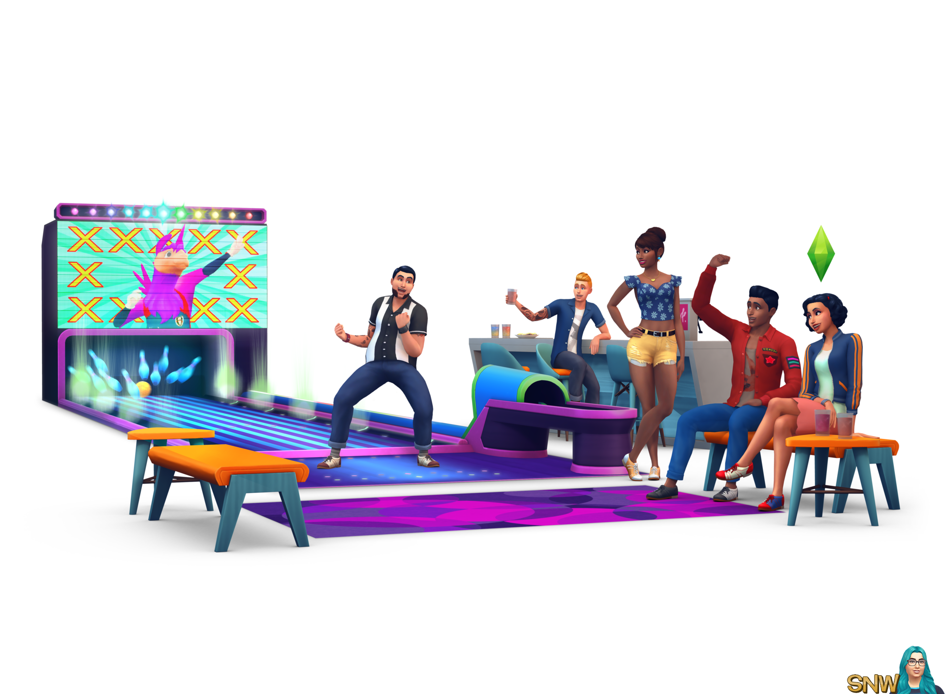The Sims 4: Bowling Night Stuff