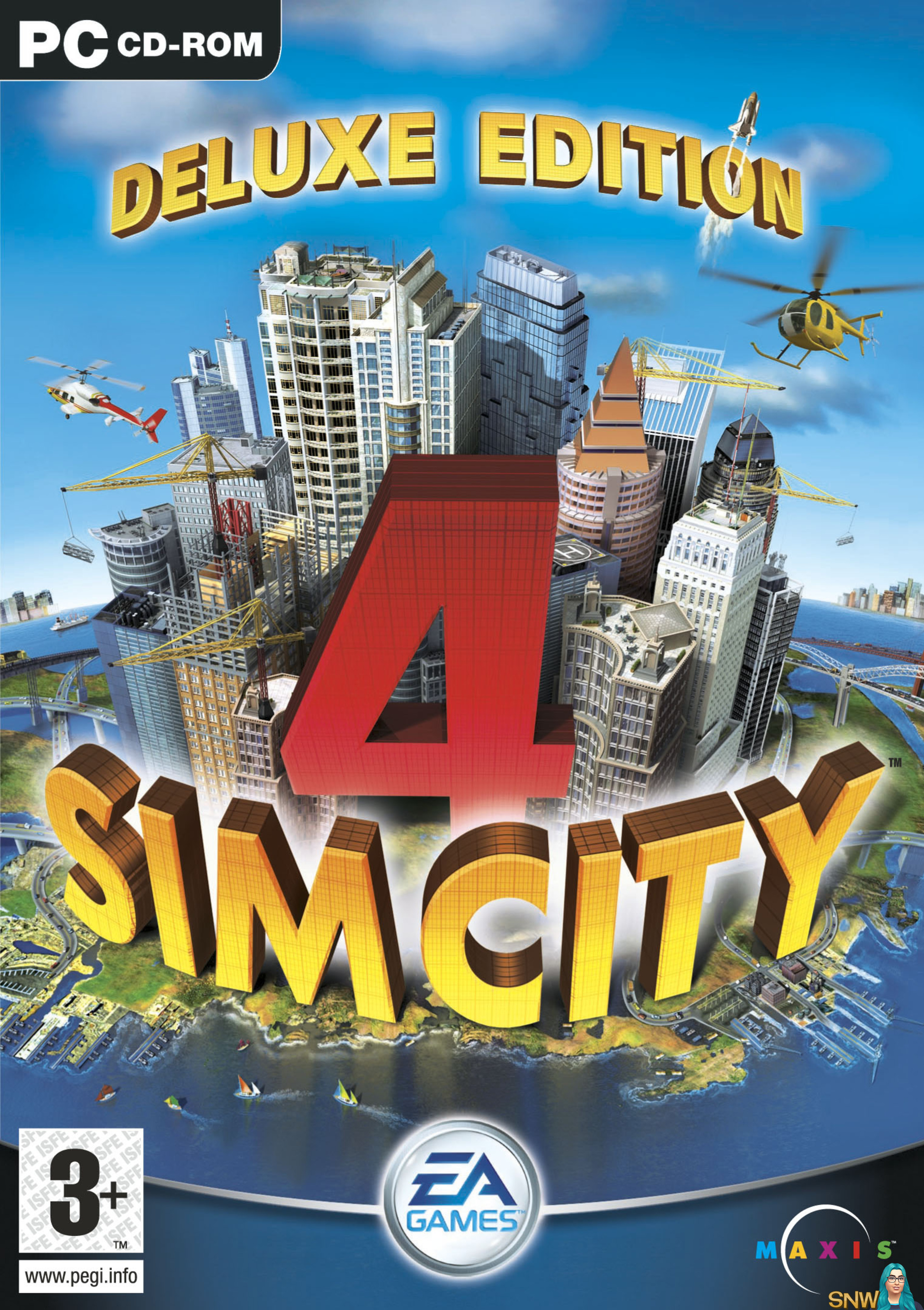 SimCity 4 Deluxe Edition box art packshot